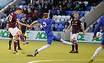 Hearts ineligible player Andrew Irving in action against Cove Rangers last night in the Betfred Cup