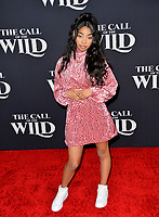 "LOS ANGELES, CA: 13, 2020: Jadah Marie at the world premiere of ""The Call of the Wild"" at the El Capitan Theatre.<br /> Picture: Paul Smith/Featureflash"