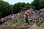 Mike Alessi (800) competes on the course at the Unadilla Valley Sports Center in New Berlin, New York on July 16, 2006, during the AMA Toyota Motocross Championship.