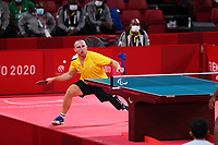 25th August 2021; Tokyo, Japan; Viktor Didukh (UKR),  Table Tennis : Men's Singles - Class 8 Group A during the Tokyo 2020 Paralympic Games at the Tokyo Metropolitan Gymnasium in Tokyo, Japan.