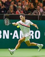 Rotterdam, The Netherlands, 18 Februari, 2018, ABNAMRO World Tennis Tournament, Ahoy, Singles final, Roger Federer (SUI)<br /> Photo: www.tennisimages.com/henkkoster
