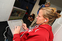 7 April 2008: Stanford Cardinal video coordinator Evan Unrau during Stanford's press conference for the 2008 NCAA Division I Women's Basketball Final Four championship game at the St. Pete Times Forum Arena in Tampa Bay, FL.