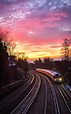 2015/04/07<br /> <br /> Commuters enjoy a beautiful sunset over Putney, London this evening after a particularly balmy spring day.<br /> <br /> All Rights Reserved: F Stop Press Ltd. +44(0)1335 418629 www.fstoppress.com
