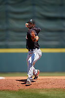 Jupiter Hammerheads relief pitcher Colton Hock (11) during a Florida State League game against the Florida Fire Frogs on April 11, 2019 at Osceola County Stadium in Kissimmee, Florida.  Jupiter defeated Florida 2-0.  (Mike Janes/Four Seam Images)