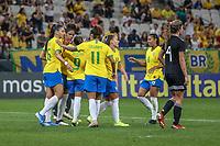 São Paulo (SP), 12/12/2019 - Brasil-México - Débora, do Brasil comemora seu gol em partida amistosa contra o México, amistoso da Seleção Brasileira Feminina contra a Seleção do México, na Arena Corinthians, em São Paulo (SP), nesta quinta-feira (12).