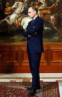 Il Presidente del Consiglio Enrico Letta si prepara ad accogliere il Ministro degli Esteri cinese a Palazzo Chigi, Roma, 29 ottobre 2013.<br /> Italian Premier Enrico Letta prepares to welcome Chinese Foreign Minister at Chigi Palace, Rome, 29 October 2013.<br /> UPDATE IMAGES PRESS/Riccardo De Luca