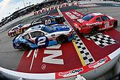 #18: Denny Hamlin, Joe Gibbs Racing, Toyota Supra SportClips and #2: Tyler Reddick, Richard Childress Racing, Chevrolet Camaro myblu