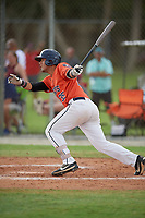 Giuseppe Ferraro (35) during the WWBA World Championship at the Roger Dean Complex on October 12, 2019 in Jupiter, Florida.  Giuseppe Ferraro attends American Heritage High School in Ft. Lauderdale, FL and is committed to Miami.  (Mike Janes/Four Seam Images)