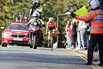 Annemiek Van Vleuten (NED) solos her way into Harrogate 2' ahead of the chasers during the Women Elite Road Race of the UCI World Championships 2019 running 149.4km from Bradford to Harrogate, England. 28th September 2019.<br /> Picture: Eoin Clarke | Cyclefile<br /> <br /> All photos usage must carry mandatory copyright credit (© Cyclefile | Eoin Clarke)
