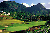 Luana Hills number 18 designed by Perry Dye, Oahu