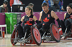 Melanie Labelle and Mike Whitehead, Lima 2019 - Wheelchair Rugby // Rugby en fauteuil roulant.<br />
