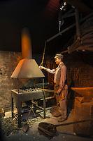 Europe/France/Normandie/Basse-Normandie/50/Manche/ Env de Sourdeval: Écomusée du Moulin de la Sée - Maison de l'Eau et de la Rivière - la roue du Moulin //  France, Manche,  Sourdeval:   Écomusée du Moulin de la Sée - Maison de l'Eau et de la Rivière: Sée Mill Eco-Museum tells the story of local people and their industries,  cutlery workshop - the forge