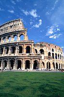 Roma Rome Italy the world famous Colosseum ruins in the center of the cit