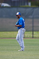 Toronto Blue Jays Joshua Palacios (76) during a Minor League Spring Training game against the Philadelphia Phillies on March 30, 2018 at Carpenter Complex in Clearwater, Florida.  (Mike Janes/Four Seam Images)