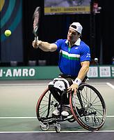 Rotterdam, The Netherlands, 6 march  2021, ABNAMRO World Tennis Tournament, Ahoy,  <br /> Semi final wheelchair: Martin de la Puente (ESP) / Gustavo Fernandez (ARG).<br /> Photo: www.tennisimages.com/