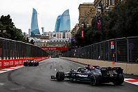 6th June 2021; F1 Grand Prix of Azerbaijan, Race Day;  44 HAMILTON Lewis (gbr), Mercedes AMG F1 GP W12 E Performance during the Formula 1 Azerbaijan Grand Prix 2021 at the Baku City Circuit