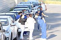 18/07/2020 - PROTESTO DE FUNCIONÁRIO DA SAÚDE NO HOSPITAL OURO VERDE