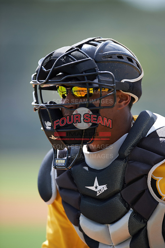 Pittsburgh Pirates Gabriel Brito (86) during an Instructional League Intrasquad Black & Gold game on September 28, 2016 at Pirate City in Bradenton, Florida.  (Mike Janes/Four Seam Images)