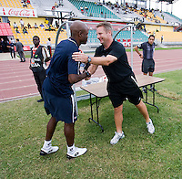 Jorge Dely Valdes, Sean Fleming.  Canada played Panama during the CONCACAF Men's Under 17 Championship at Catherine Hall Stadium in Montego Bay, Jamaica.