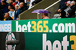 Advertising for betting companies at St James Park. Newcastle v West Ham, August 15th 2021. The first game of the season, and the first time fans were allowed into St James Park since the Coronavirus pandemic. 50,673 people watched West Ham come from behind twice to secure a 2-4 win.
