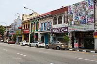 Jalan Sultan Iskandar Street Scene and Local Shops, Ipoh, Malaysia.