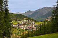 Village of Auron, a ski and winter sports resort. Alpes-Maritimes, Provence, France.