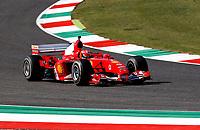 13th September 2020; Mugello race track, Scarperia e San Piero, Tuscany, Italy ; Formula 1 Grand Prix of Tuscany, Race Day;  Mick Schumacher GER drives the Ferrari F2004 of his father Michael Schumacher