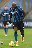 Football, Serie A: AS Roma -  FC Internazionale Milano, Olympic stadium, Rome, January 10, 2021. <br /> Inter's Romelu Lukaku in action during the Italian Serie A football match between Roma and Inter at Rome's Olympic stadium, on January 10, 2021.  <br /> UPDATE IMAGES PRESS/Isabella Bonotto