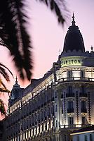 France/06/Alpes-Maritimes/Cannes: L'hotel Carlton sur la croisette - Détail