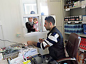 Iraq 2015 <br /> In the camp of Berseve, the pharmacy  <br /> Irak 2015 <br /> Au camp de Berseve, la pharmacie.
