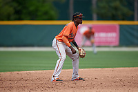 Baltimore Orioles JC Encarnacion (76) during a Minor League Spring Training game against the Tampa Bay Rays on March 16, 2019 at the Buck O'Neil Baseball Complex in Sarasota, Florida.  (Mike Janes/Four Seam Images)