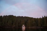 A rainbow lights up the sky above the Great Bear II.