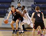 March 13, 2021— University of Jamestown vs LSU Shreveport NAIA Men's Basketball at Sokol Arena in Omaha, Nebraska (Photo by Richard Carlson/inertia)