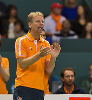 Switserland, Genève, September 20, 2015, Tennis,   Davis Cup, Switserland-Netherlands,Dutch  captain Jan Siemerink<br /> Photo: Tennisimages/Henk Koster