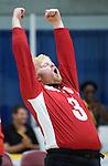 Brendan Gaulin, Toronto 2015 - Goalball.<br /> Canada's men's Goalball team plays in the bronze medal game // L'équipe masculin de goalball du Canada participe au match pour la médaille de bronze. 15/08/2015.