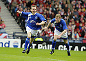 12/04/2008    Copyright Pic: James Stewart.File Name : sct_jspa04_qots_v_aberdeen.PAUL BURNS CELEBRATES AFTER HE SCORES QUEEN OF THE SOUTH'S SECOND....James Stewart Photo Agency 19 Carronlea Drive, Falkirk. FK2 8DN      Vat Reg No. 607 6932 25.Studio      : +44 (0)1324 611191 .Mobile      : +44 (0)7721 416997.E-mail  :  jim@jspa.co.uk.If you require further information then contact Jim Stewart on any of the numbers above........