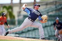 Tampa Bay Rays pitcher Zack Trageton (29) during an Instructional League game against the Baltimore Orioles on September 19, 2016 at Ed Smith Stadium in Sarasota, Florida.  (Mike Janes/Four Seam Images)