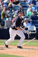 Catcher Peter O'Brien (96) of the New York Yankees during a spring training game against the Philadelphia Phillies on March 1, 2014 at Steinbrenner Field in Tampa, Florida.  New York defeated Philadelphia 4-0.  (Mike Janes/Four Seam Images)