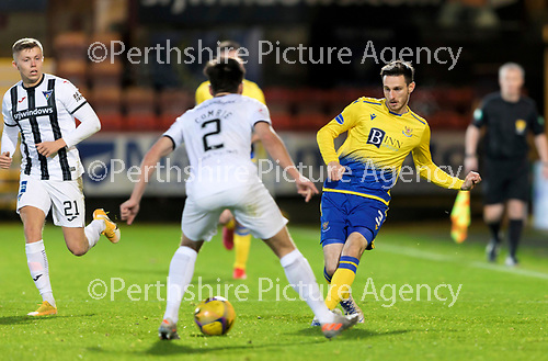 Dunfermline v St Johnstone…15.12.20   East End Park      BetFred Cup<br />Scott Tanser and Aaron Comrie<br />Picture by Graeme Hart.<br />Copyright Perthshire Picture Agency<br />Tel: 01738 623350  Mobile: 07990 594431