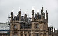 Work is carried out on The Palace of Westminster as Beast from the East weather continues at City of London, London, England on 1 March 2018. Photo by Andy Rowland.