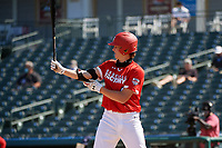 Bubba Chandler (4) bats during the Baseball Factory All-Star Classic at Dr. Pepper Ballpark on October 4, 2020 in Frisco, Texas.  Bubba Chandler (4), a resident of Bogart, Georgia, attends North Oconee High School.  (Mike Augustin/Four Seam Images)