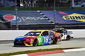 #18: Kyle Busch, Joe Gibbs Racing, Toyota Camry M&M's, #7: Josh Bilicki, Tommy Baldwin Racing, Chevrolet Camaro Insurance King
