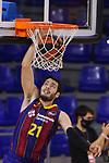League ACB-ENDESA 2020/2021.Game 15.<br /> FC Barcelona vs Club Joventut Badalona: 88-74.<br /> Alex Abrines.