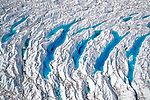 ONLINE ARE RESTRICTED TO A MAXIMUM OF 10 IMAGES  FROM THIS SET TO RUN ALONGSIDE THE STORY<br /> <br /> Pictured: Taken from a plane:  Greenland aerials.<br /> <br /> Amazing drone shots show a Mongolian tribesman sledding across a frozen lake, the skyscrapers of Dubai shrouded in mist and a fluorescent blue stream winding its way through the ice of Greenland.  Other images show fields of flowers in Italy and a herd of livestock being guided through the desert.<br /> <br /> The patterned pictures - which resemble modern art - were captured by photographer Alessandra Meniconzi from Lugano, Switzerland.  SEE OUR COPY FOR DETAILS.<br /> <br /> Please byline: Alessandra Meniconzi/Solent News<br /> <br /> © Alessandra Meniconzi/Solent News & Photo Agency<br /> UK +44 (0) 2380 458800