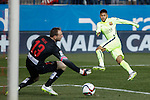 Barcelona´s Neymar Jr scores a goal during Copa del Rey `Spanish King Cup´ soccer match at Vicente Calderon stadium in Madrid, Spain. January 28, 2015. (ALTERPHOTOS/Victor Blanco)