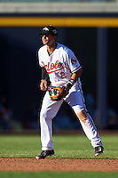 Peoria Javelinas Adrian Marin (2), of the Baltimore Orioles organization, during a game against the Surprise Saguaros on October 12, 2016 at Peoria Stadium in Peoria, Arizona.  The game ended in a 7-7 tie after eleven innings.  (Mike Janes/Four Seam Images)