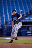 Tobias Myers (3) of Winter Haven High School in Winter Haven, Florida playing for the Tampa Bay Rays scout team during the East Coast Pro Showcase on July 27, 2015 at George M. Steinbrenner Field in Tampa, Florida.  (Mike Janes/Four Seam Images)