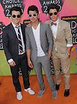 KeKevin Jonas,Joe Jonas & Nick Jonas at Nickelodeon's 23rd Annual Kids' Choice Awards held at Pauley Pavilion in Westwood, California on March 27,2010                                                                                      Copyright 2010 © DVS / RockinExposures