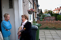 Labour MP and former minister Margaret Hodge campaigning before the election in Dagenham, East London.