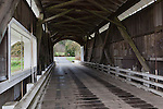 Mohawk Covered Bridge, Circa 1938, overthe Mohawk River in Lane County Oregon.  Nearby Wendling and Marcola, Oregon.